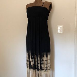 Black and Tan, Fringed Dress